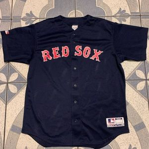 Vintage Majestic Boston Red Sox Button Down Jersey